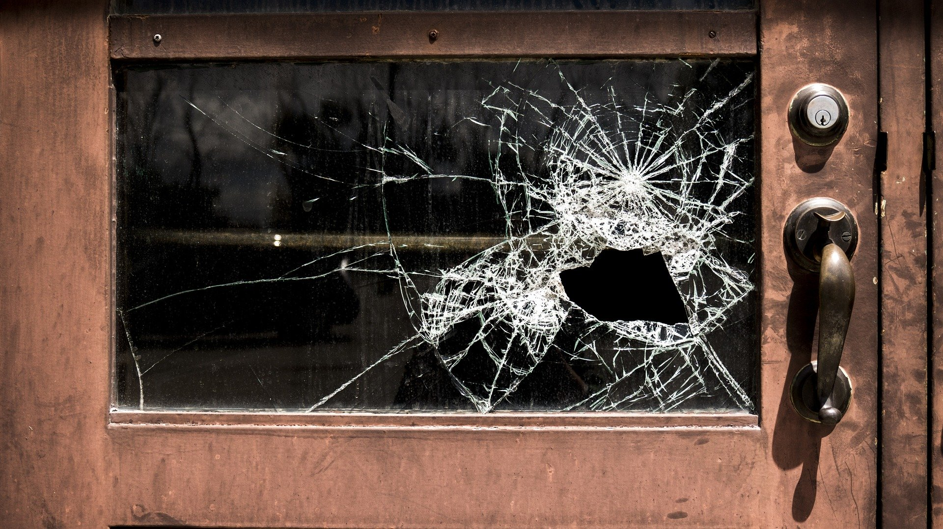 Vandalized window